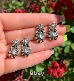 1 Pair Star Stud Earrings Handmade by Navajo Happy Piasso