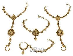 2160 Indian Ethnic Bollywood Bridal Long Rani Haar Necklace Earrings Set Jewelry