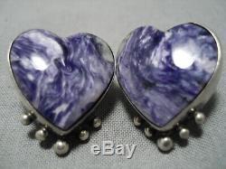 Best Vintage Navajo Charoite Sterling Silver Native American Earrings