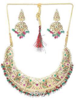 Bridal 18k Gold Plated Jdaau Multi Nedcklace Earring Indian Wedding Jewelry Box