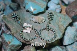 D. Ashley Navajo Hook Earrings, Royston Turquoise, Sterling