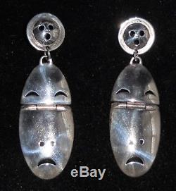 Denise Wallace Sterling Silver Inuit Post Earrings