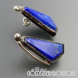 E & C Fierro Navajo Sterling Silver Lapis Lazuli Contemporary Post Earrings