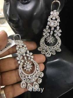 Ethnic Bollywood Style Bridal Jewelry Indian CZ Earring AD Earrings White