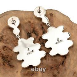 FEDERICO JIMENEZ Earrings TURQUOISE Sterling Silver Dangles Cluster Chandelier