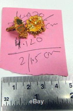 Gold Earrings 22 K solid gold handmade traditional Indian Earring fine jewellery