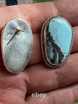 Golden Hills Turquoise Earrings, Artist Chimney Butte, Native American
