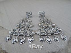 Harrison Joe Native American Navajo Sterling Silver Earrings