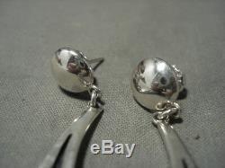 Important Roy Talahaftewa Hopi Silver Earrings