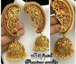 Indian Big Jhumka Earrings Jhumki Wedding Bollywood Set Real Camp Earrings