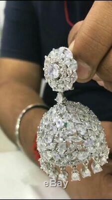 Indian Ethnin CZ Designer revolving Bollywood Wedding Wear Jewelry Earring Set