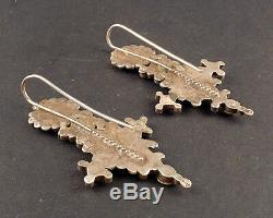 Indian Gujarati Or Rajasthan Old Earrings, India, Indian Ethnic Tribal Silver