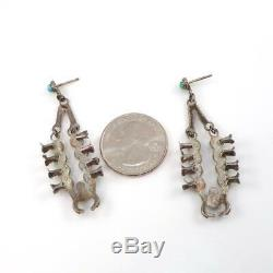Native American Squash Blossom Necklace Sterling Silver Turquoise Earrings LHG5