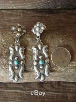 Native American Sterling Silver Concho Post Earrings Tim Yazzie