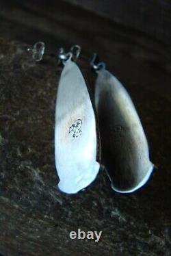 Native American Sterling Silver Lapis Post Earrings! Betone