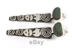 Native American Sterling Silver Navajo Royston Turquoise Earring Alex Sanchez