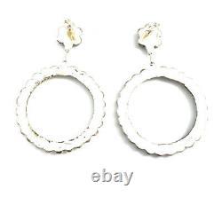 Native American sterling silver Zuni Turquoise Dangle earrings