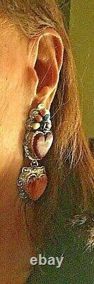 Navajo Earring Arthur Platero AP Vintage c. 1993