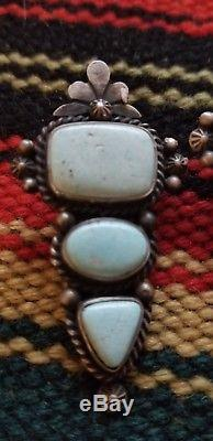 Navajo Fritz Toledo Dry Creek turquoise Sterling silver earrings