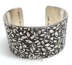 Navajo Handmade Sterling Silver Heavy Bracelet