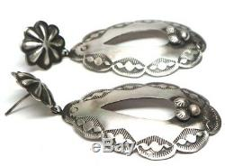Navajo Handmade Sterling Silver Post Earrings- RL
