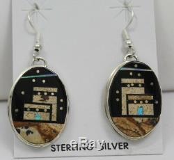 Navajo Indian Earrings 50% Off Multistone Dangles Night Sky Pueblo Gilbert Smith