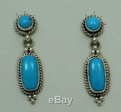 Navajo Indian Earrings 50% off Sleeping Beauty Turquoise Sterling Silver Post Re