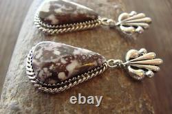 Navajo Indian Jewelry Sterling Silver Wild Horse Post Earrings! J. Bahe