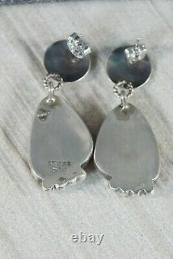 Navajo Spiny Oyster and Sterling Silver Earrings Selina Warner