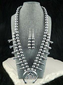 Navajo Squash Blossom & Earrings Gilbert Martin Sterling Silver Navajo