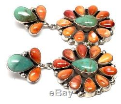 Navajo Sterling Silver Multicolor Post Earrings- Gabby