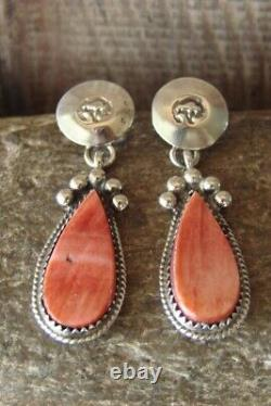 Navajo Sterling Silver Spiny Oyster Concho Post Earrings! By Warner