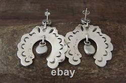 Navajo Sterling Silver Spiny Oyster Post Earrings P. Yazzie