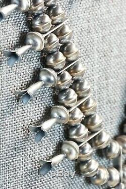 Navajo Sterling Silver Squash Blossom & Earrings Set Phil Garcia