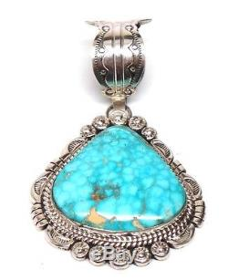 Navajo Sterling Silver Turquoise Pendant Mary Ann Spencer