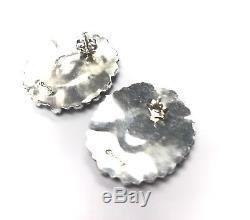 Navajo Sterling Silver Turquoise Petit Point Cluster Earrings Pamela Benally