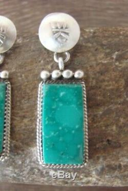Navajo Sterling Silver Turquoise Post Earrings SW