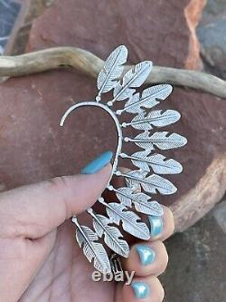 Navajo Turquoise & Sterling Silver Cuff Earring Right Side