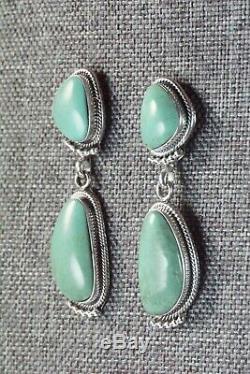 Navajo Turquoise & Sterling Silver Earrings Sadie Jim