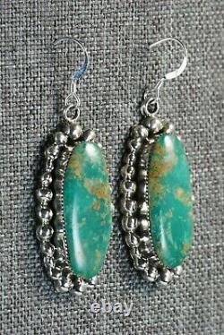 Navajo Turquoise & Sterling Silver Earrings Sheena Jack