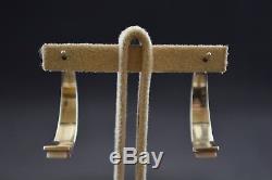 Navajo Zuni Sterling Silver Half Hoop Earring with Multi Color Gemstones 4.3g