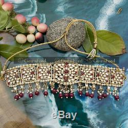 New Indian Pakistani Kundan Bridal Necklace Earrings Tikka Jhummar Jewellery Set