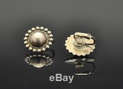 Nice Set! Fred Harvey Era Concho Silver Cuff Bracelet, Ring and Earrings