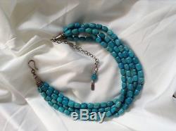 ROCKI GORMAN Sleeping Beauty Turquoise Multi-Strand Necklace Fabulous