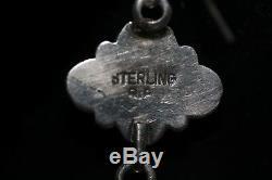 R. P Navajo Earrings, Sterling, Kingman Turquoise, Signed