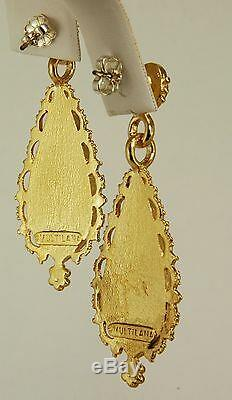 Sale Replica of Indian Drop Earrings with Garnet Museum Store Collection