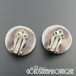 Sammy & Esther Guardian Zuni 925 Silver Gemstone Micro Inlay Bird Clip Earrings