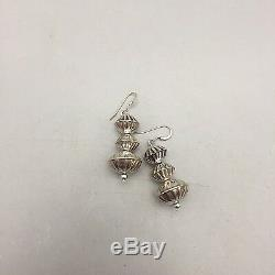Sterling Silver Bead Navajo Pearl Necklace WITH Matching Earrings