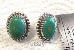 Sterling Silver Royston turquoise earrings Avin Joe Navajo post
