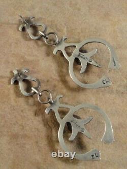 Sterling Silver & Turquoise Naja Earrings by Eva & Lindberg Billah Navajo
